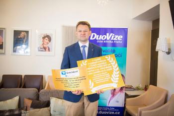 DuoVize s.r.o., Oční klinika Praha, obsadila ve veliké konkurenci třetí místo.